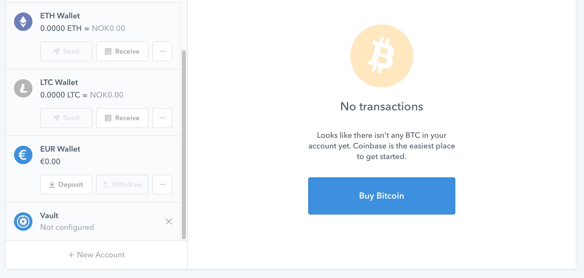 Coinbase-handel - steg 5